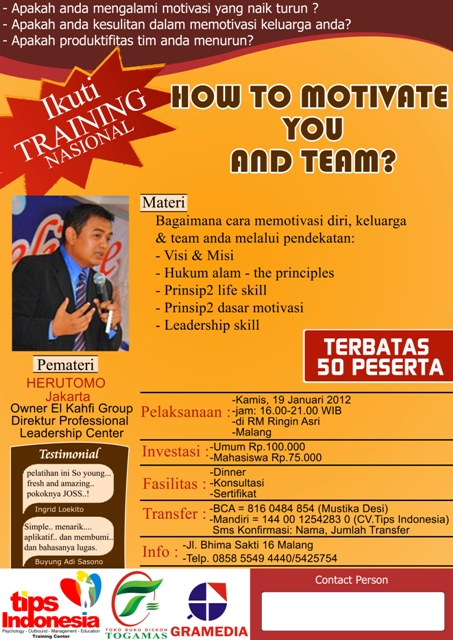 Seminar Herutomo : How to Motivate You and Team?
